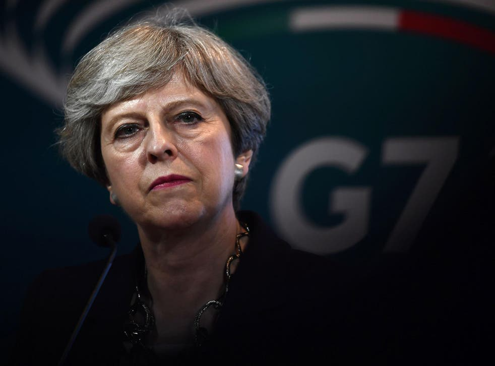 Is Theresa May afraid of certain people in her own party?
