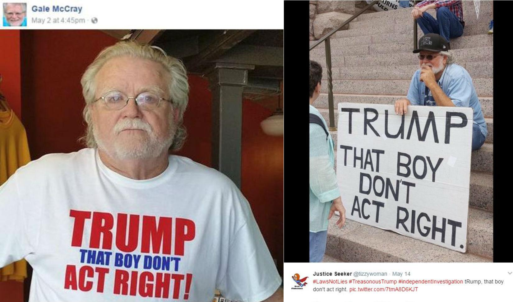 This man who protests Donald Trump every day has become a meme