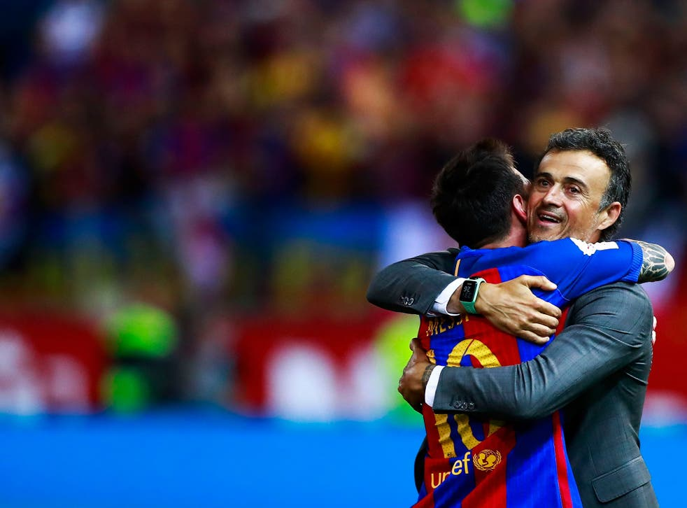 Luis Enrique bids farewell to Barcelona after three years at the club