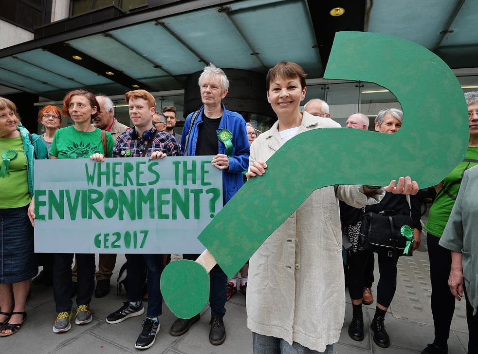 Caroline Lucas has been on the streets of London promoting the importance of green issues, sadly all to sparse in the other parties' manifestos