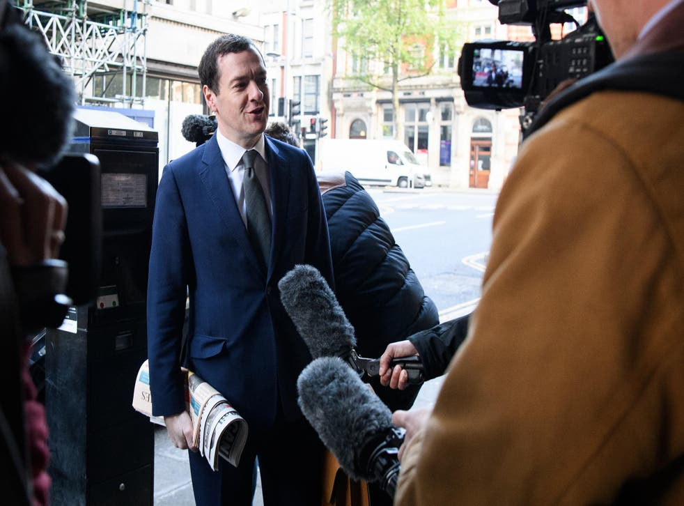 Mr Osborne took over at the paper after being sacked from his job by Ms May after she won the keys to No 10