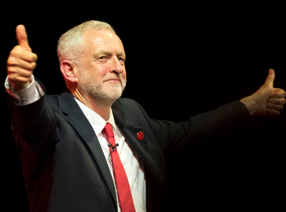 Labour Party leader Jeremy Corbyn at a General Election rally at the Old Fruitmarket, Candleriggs, Glasgow