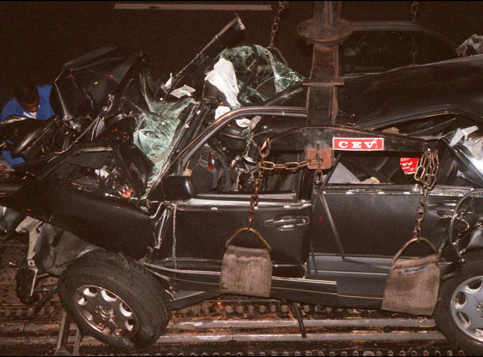The Mercedes was crashed at speeds of up to 120mph