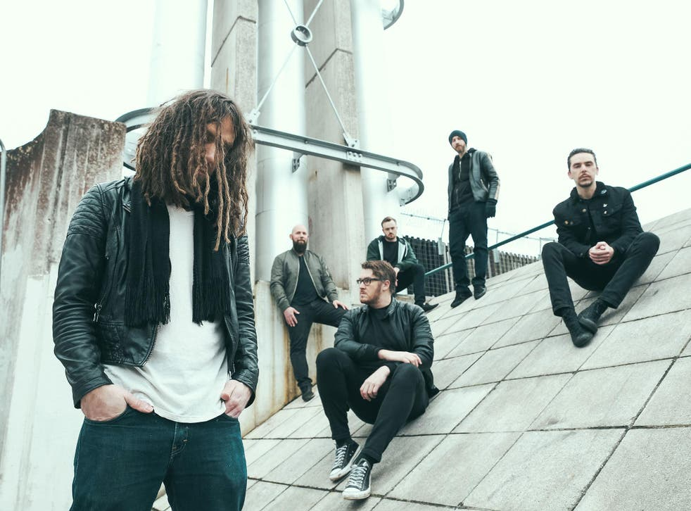 SikTh, from left to right, Mikee Goodman