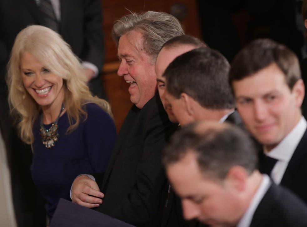 White House senior advisers Jared Kushner
