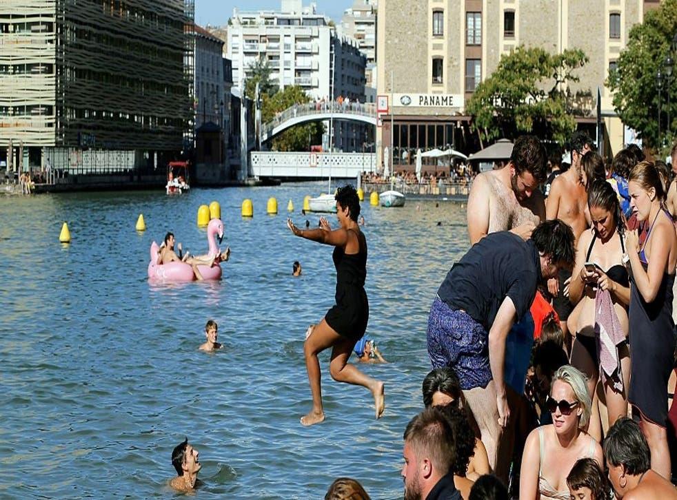 Parisians enjoyed swimming in the Bassin de la Villette for one day last summer