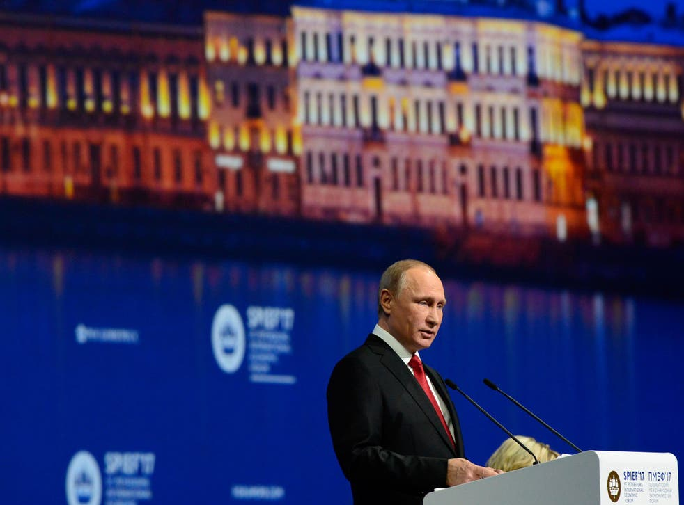 Putin said that he wasn't going to judge Trump's decision to withdraw from the Paris climate agreement