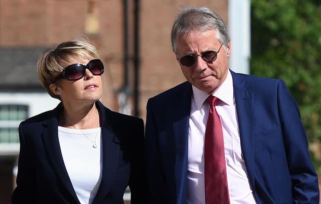 Julie and Tony Wadsworth outside Warwick Crown Court