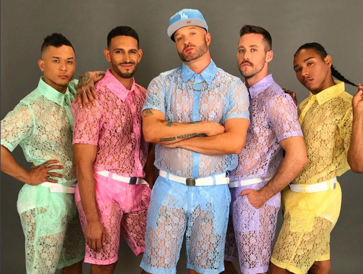 See-through, pastel lace shorts are dividing opinion about what is ...