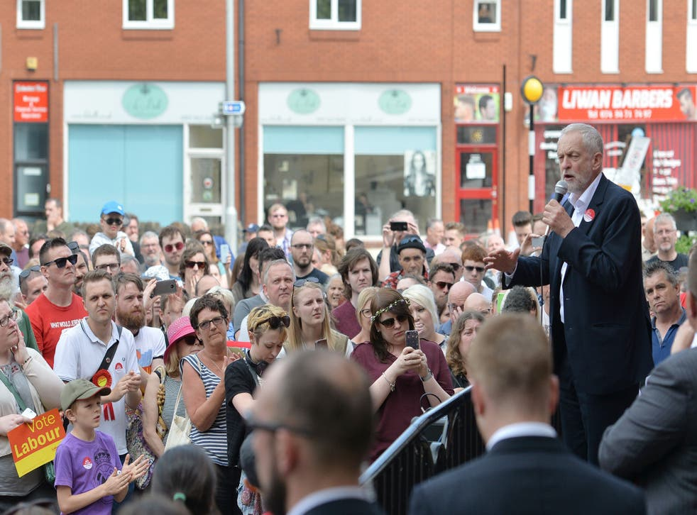 'The dementia tax is itself unfair but what's made matters even worse is the way Theresa May announced a cap and then failed to say how much it would be,' Mr Corbyn told supporters at a rally in  in Hucknall Market Place, East Midlands