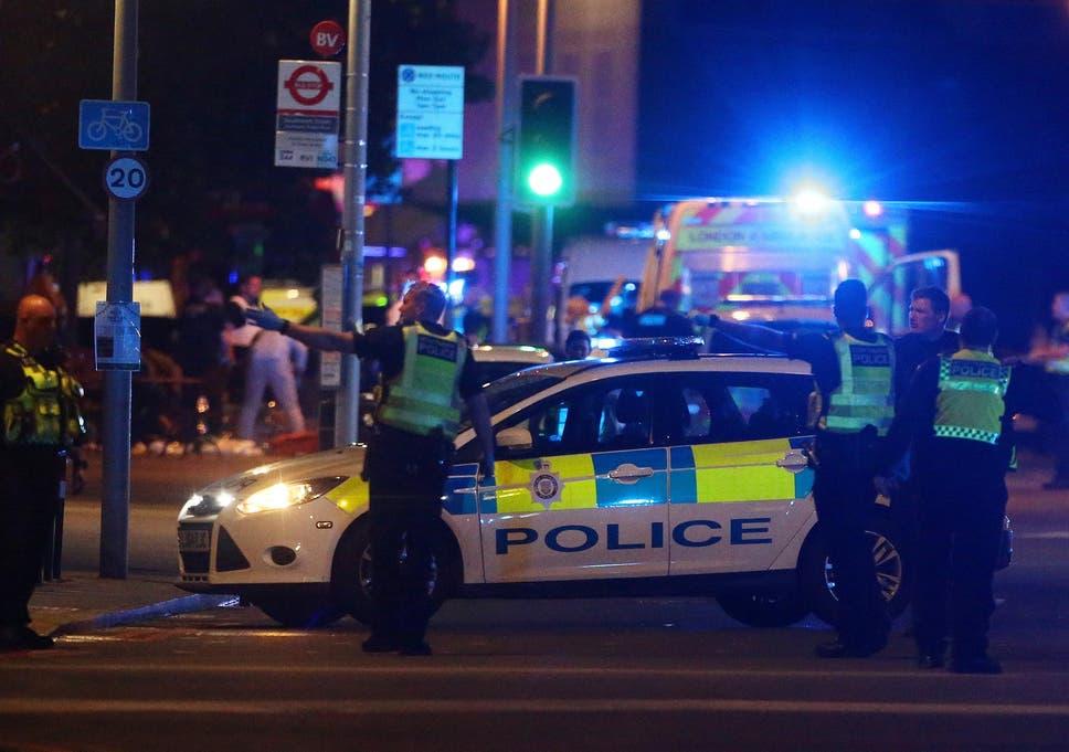 Police in London Bridge, the scene of one of four terror attacks in the UK