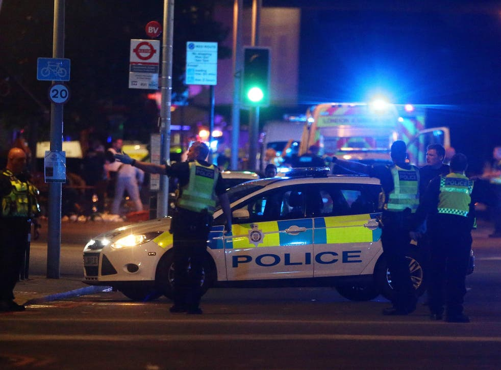 Police in London Bridge, the scene of one of four terror attacks in the UK this year