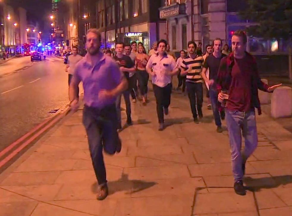 Even as Londoners fled the attacks, it was possible to detect the emerging spirit of defiance: this man wasn't going to let the terrorists spill his pint