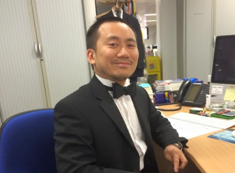 Geoff Ho was stabbed in the throat after he tried to protect a bouncer on the door of the Southwark Tavern
