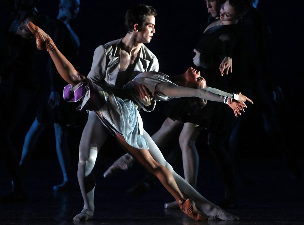 Gray Davis dancing with Misty Copeland at the Met
