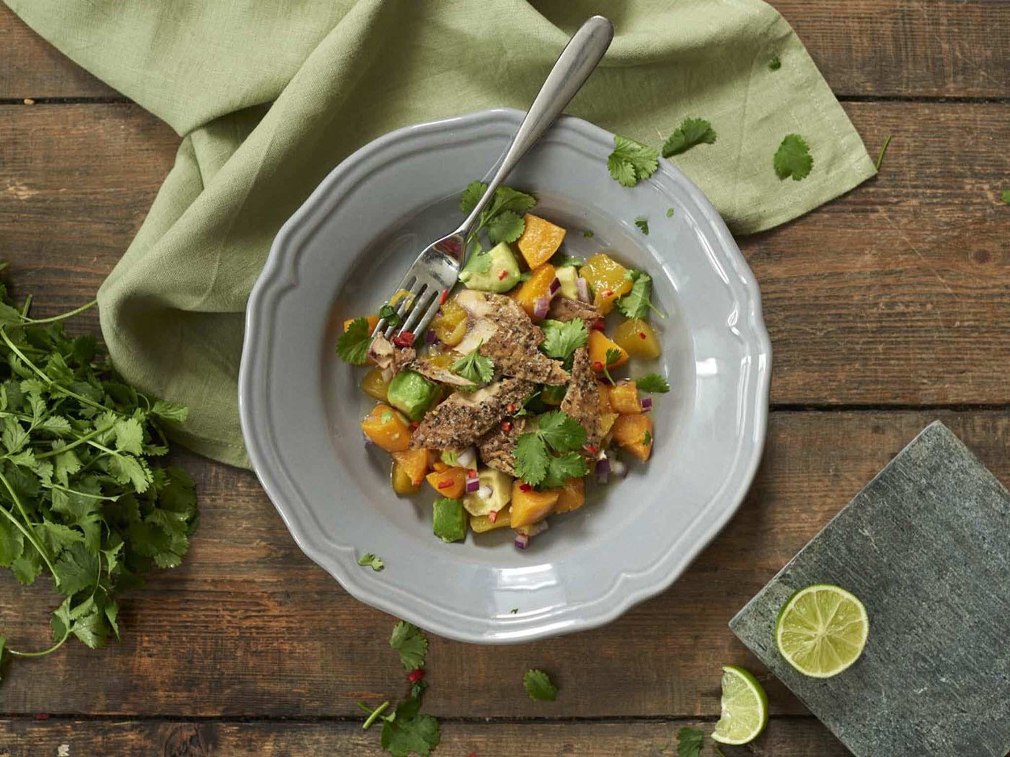 How to make mackerel mango summer salad | The Independent
