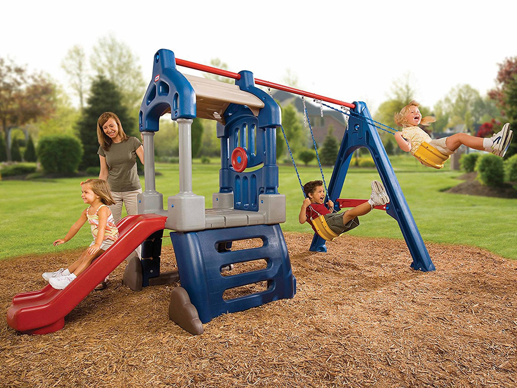 9 best children s swing sets and climbing frames