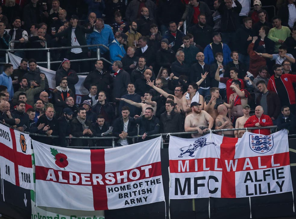 England fans were spotted performing Nazi-related gestures in Dortmund