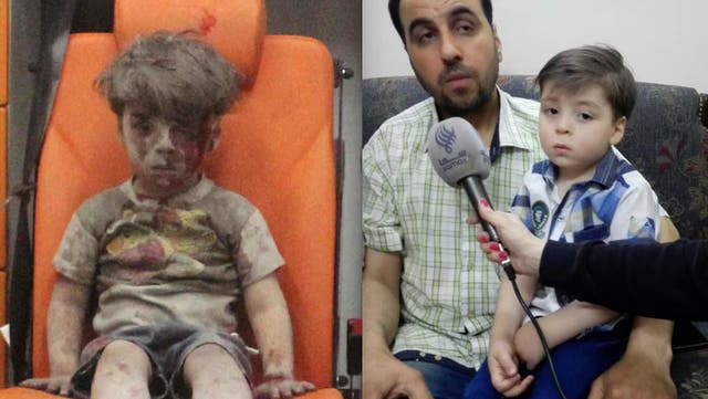 Omran's father said the family was forced to change the boy's name and cut his hair to avoid media or rebel group attention