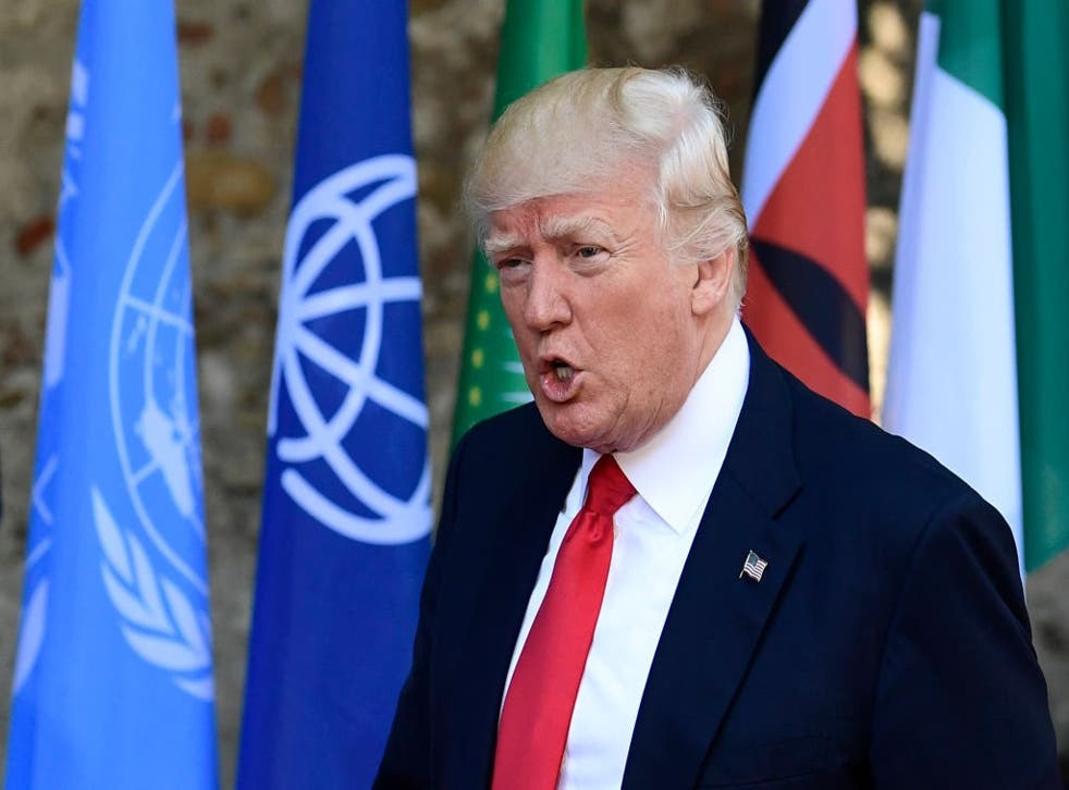 Donald Trump in Sicily for the G7 conference in May