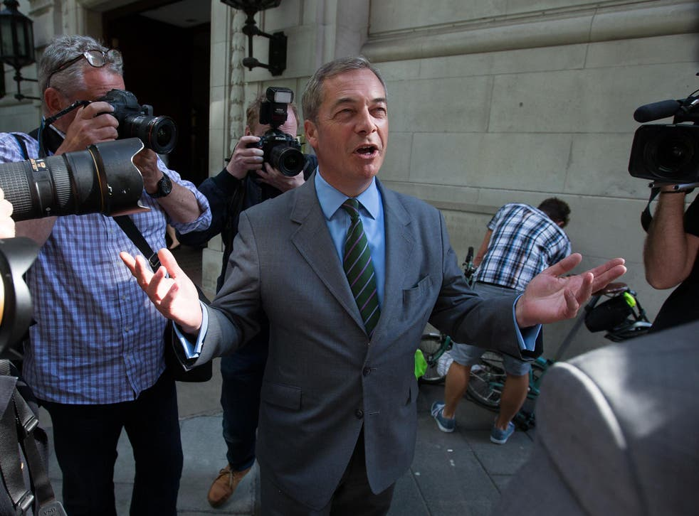 Nigel Farage led Ukipto success but the party'svote has collapsed since2015(AF