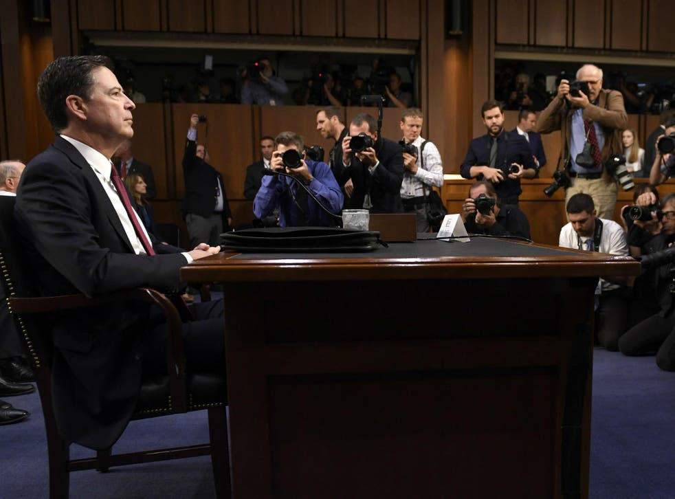 James Comey said whether Donald Trump obstructed justice or not should be left up to special prosecutor Robert Mueller