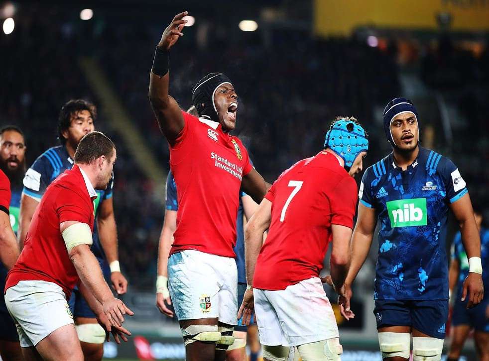 Maro Itoje came in for some criticism for his reaction to a penalty during the defeat against the Blues