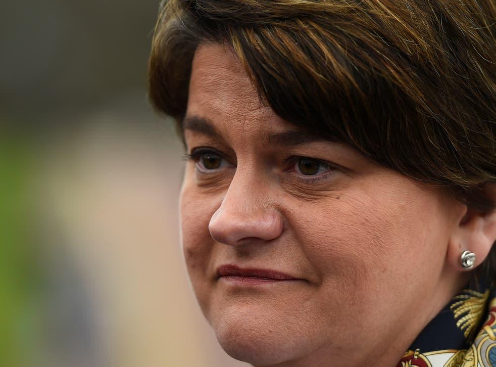 DUP leader Arlene Foster has denied her party is homophobic