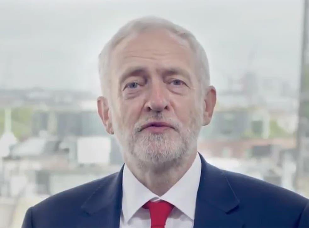 Jeremy Corbyn has taken to social media to upload the video