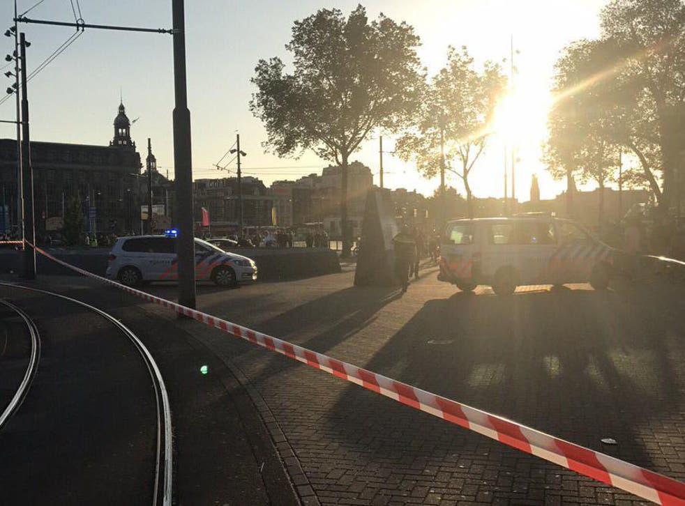 A car struck pedestrians close to Amsterdam Station
