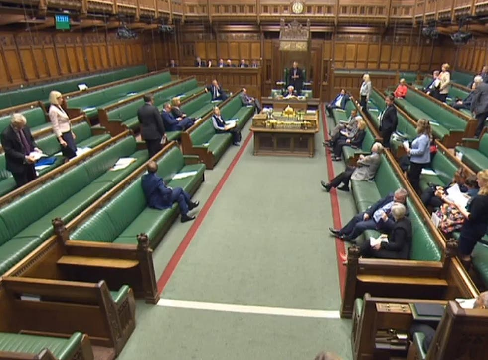 The chamber in the House of Commons. Keeping control of it is hard enough even when you do have a majority