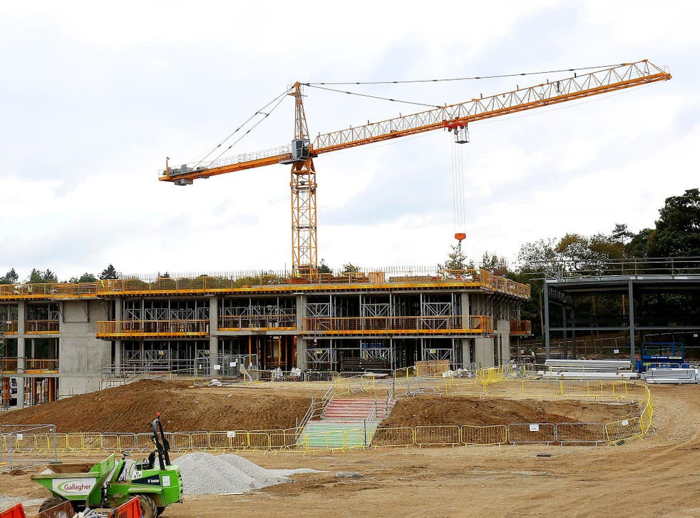 A construction site in Sevenoaks, Kent, where the first 'new' grammar school in 50 years is being built