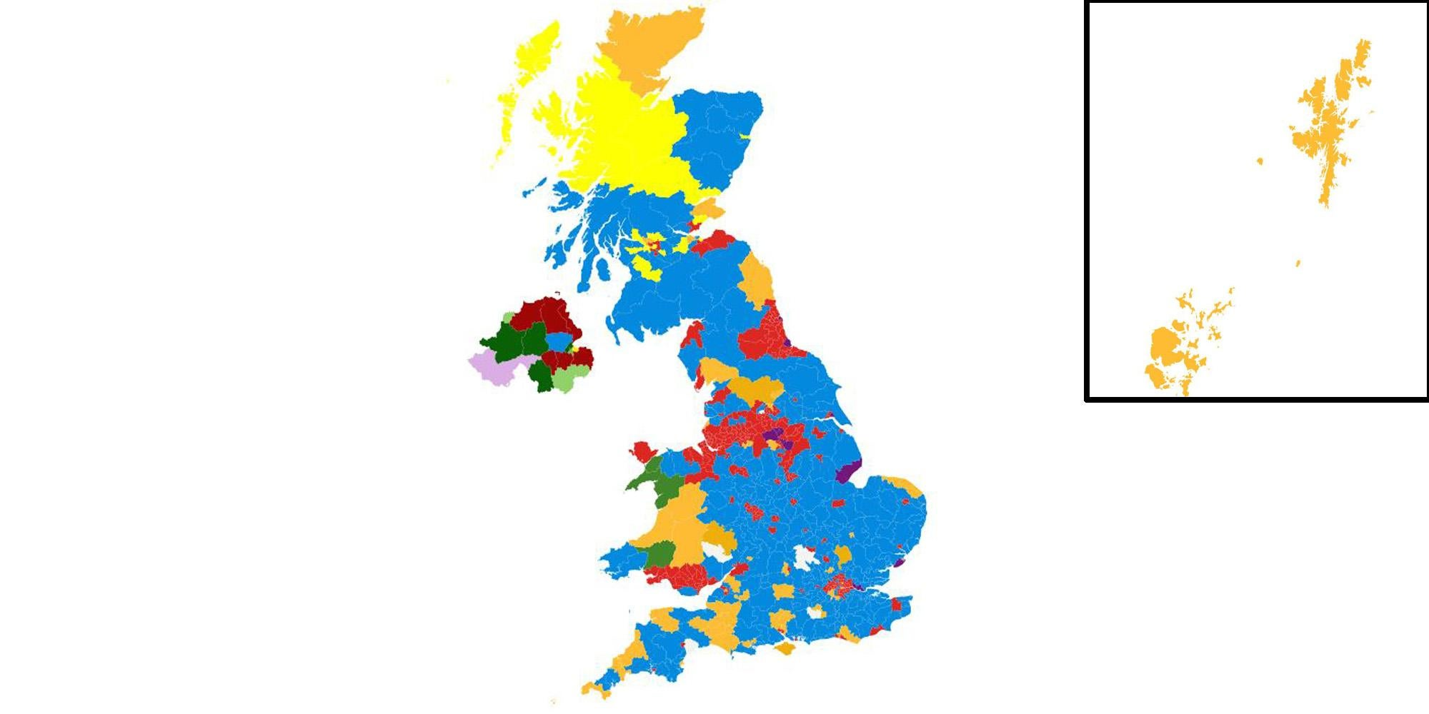 Map Of Uk 2017.Here S What The Uk Electoral Map Would Look Like With Proportional