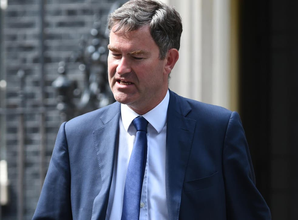 David Gauke, who has been appointed Works and Pensions Secretary, leaves 10 Downing Street