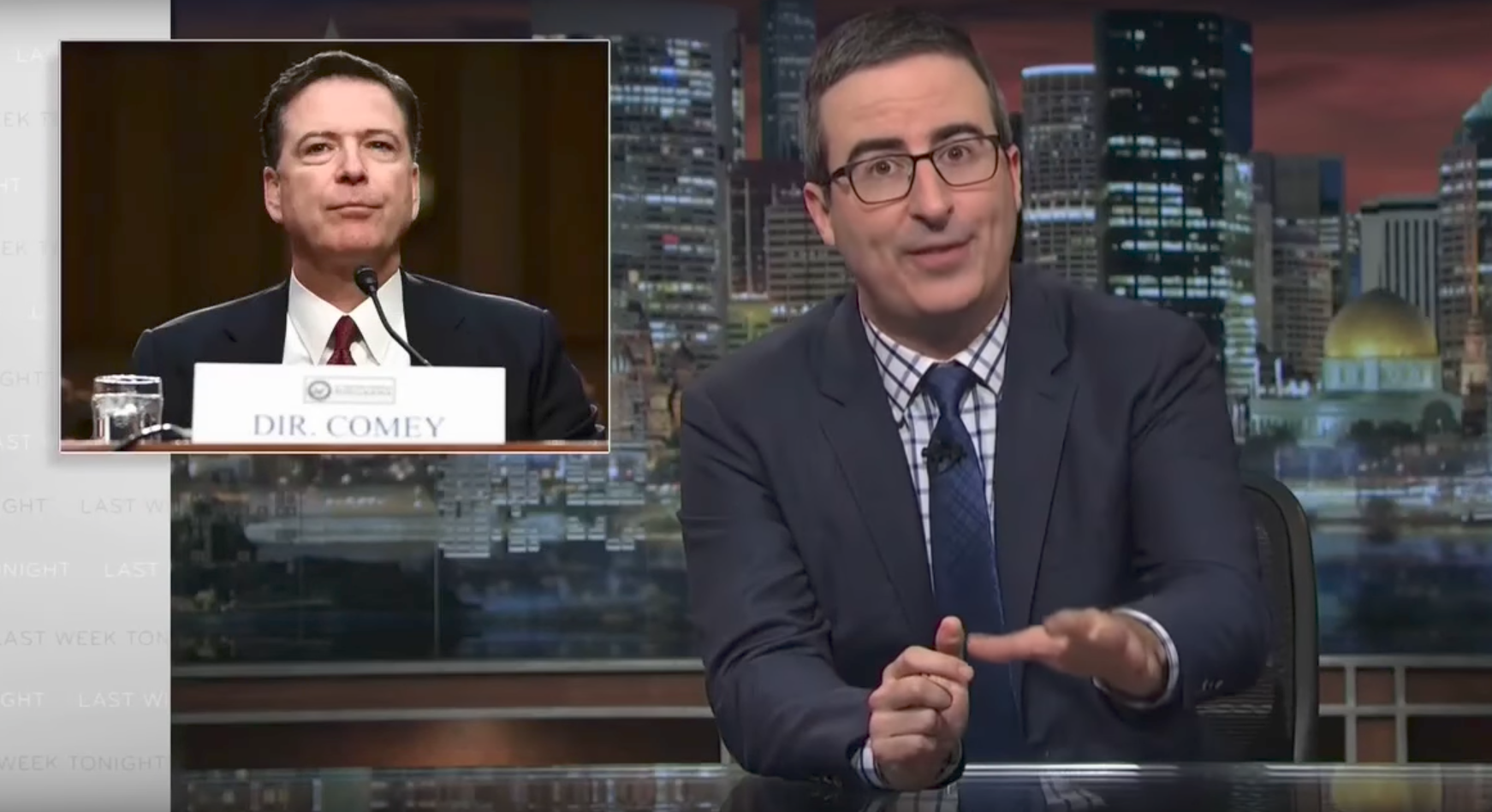John oliver even fox news 39 struggled to spin any for Comey and shepherd