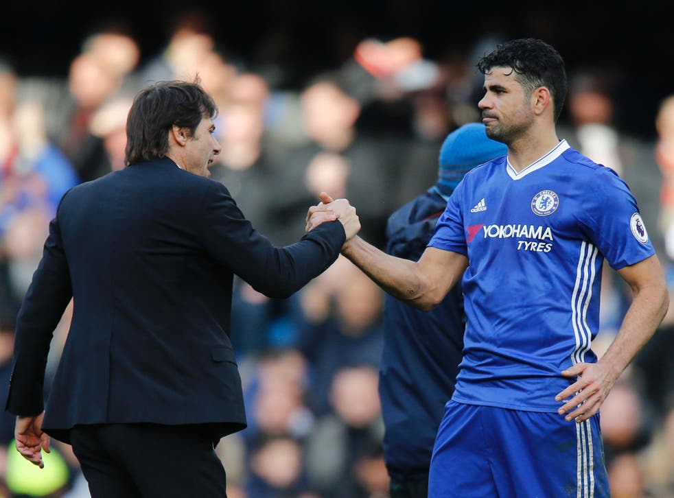 Costa and Conte have not seen eye to eye all season
