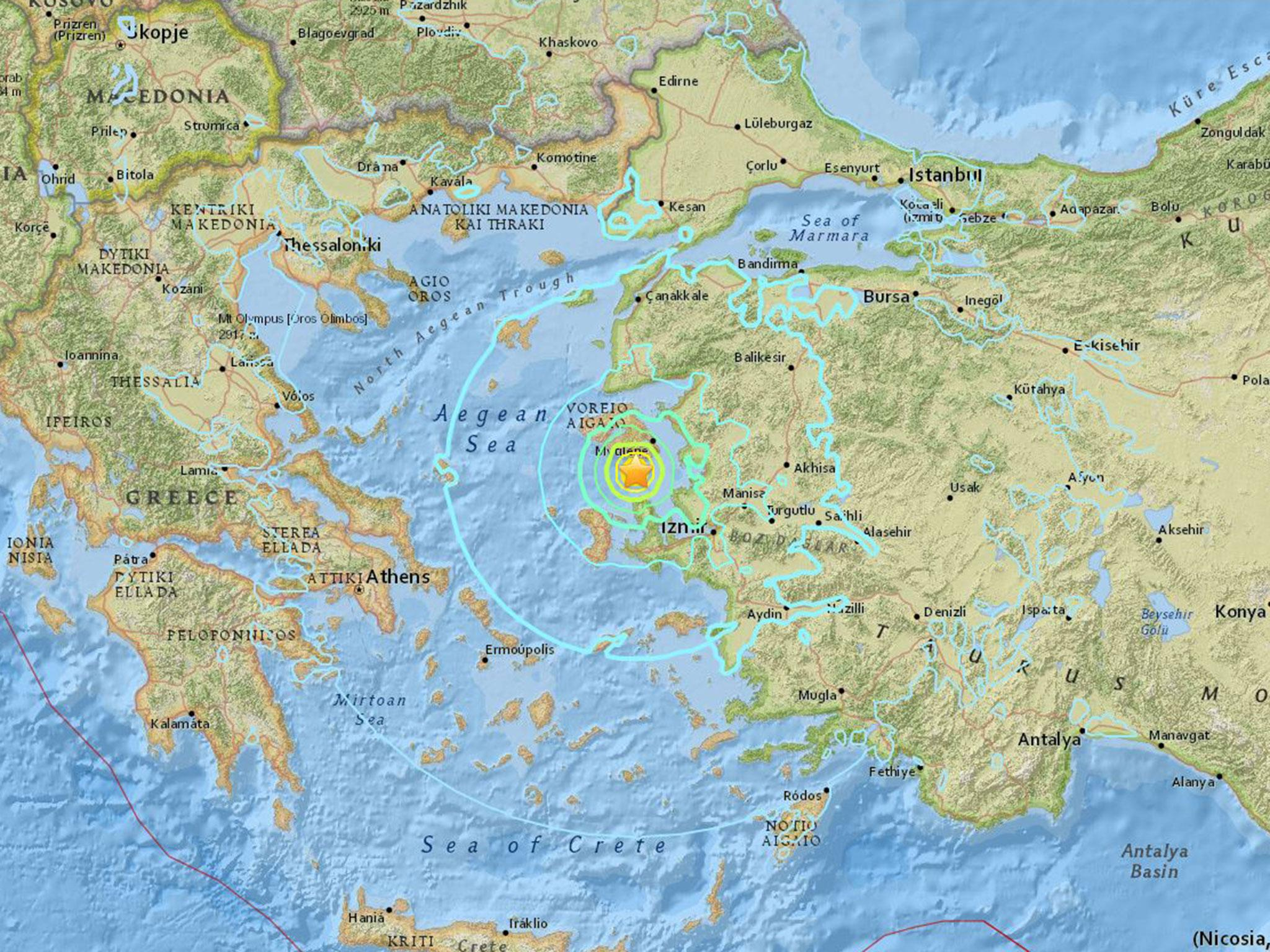 Turkey earthquake magnitude 63 seismic shock strikes western coast turkey earthquake magnitude 63 seismic shock strikes western coast and large greek island the independent gumiabroncs Image collections