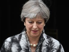 May faces down Tory MPs for first time since election humiliation