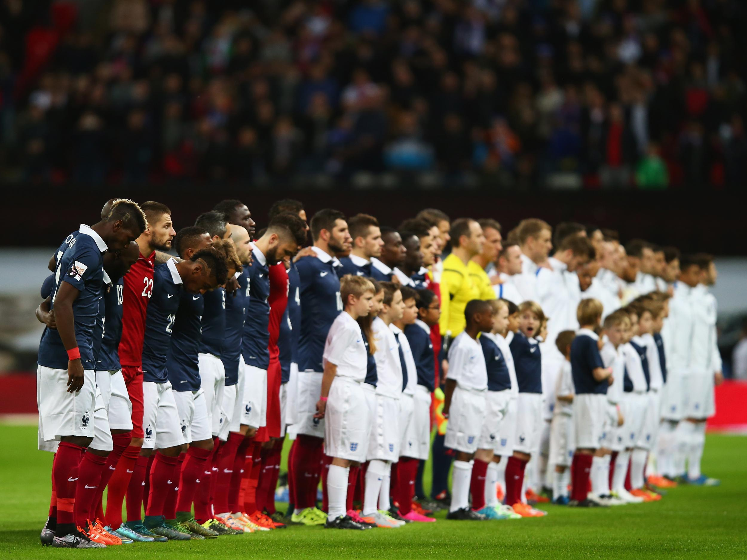 French newspaper print God Save the Queen lyrics in French ahead of Stade de France friendly against England