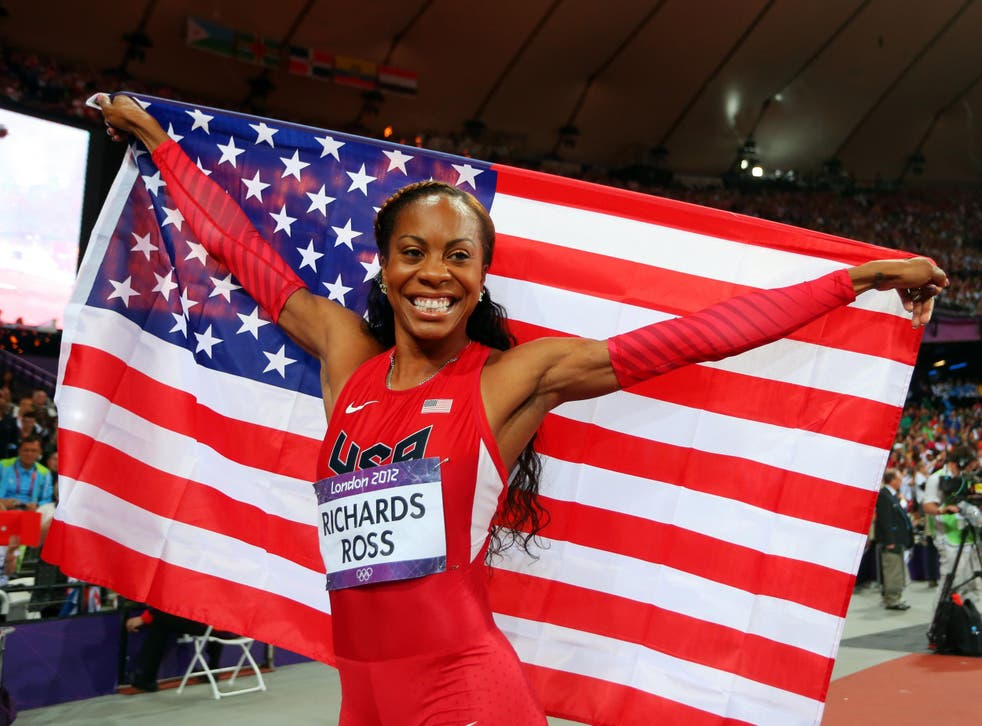 Richards-Ross won individual and relay gold at the 2012 London Olympic Games to add to her victories in the 4x400m in 2004 and 2008