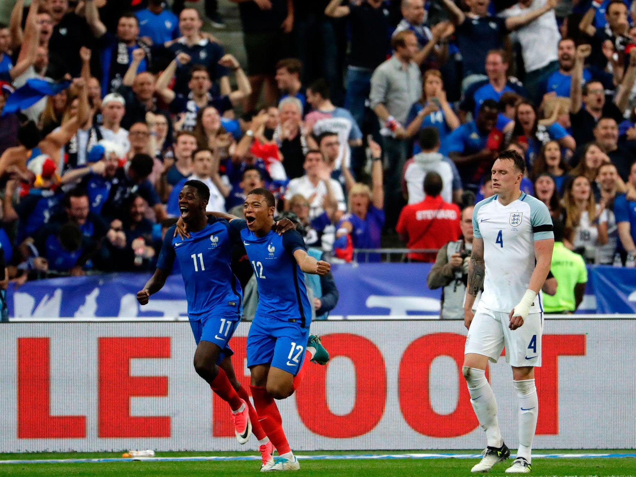 England outplayed by 10-man France as Gareth Southgate's side fall short in Paris