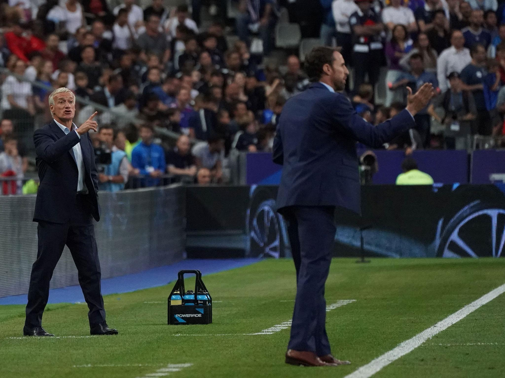 Didier Deschamps remains France's weakest link but it's a very different story for Gareth Southgate and England
