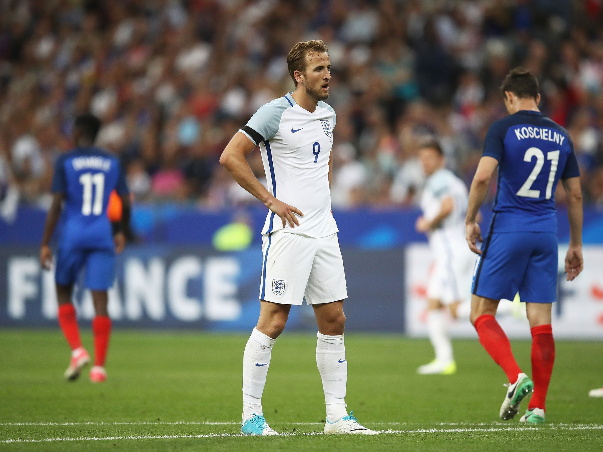 Harry Kane admits England 'weren't good enough' after defeat by 10-man France
