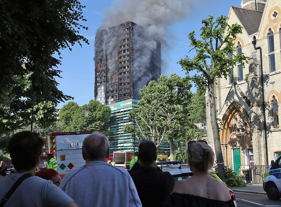 Witnesses described seeing residents waving, shouting and screaming from their windows and entrapped on the upper storeys as the block went up in flames
