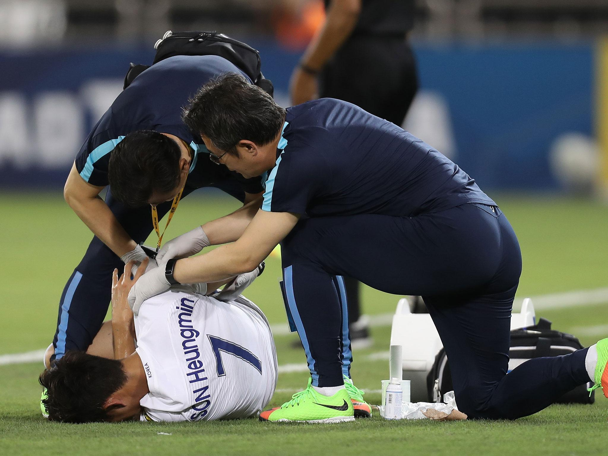 Tottenham's Son Heung-min likely to miss start of pre-season after suffering suspected broken arm with South Korea