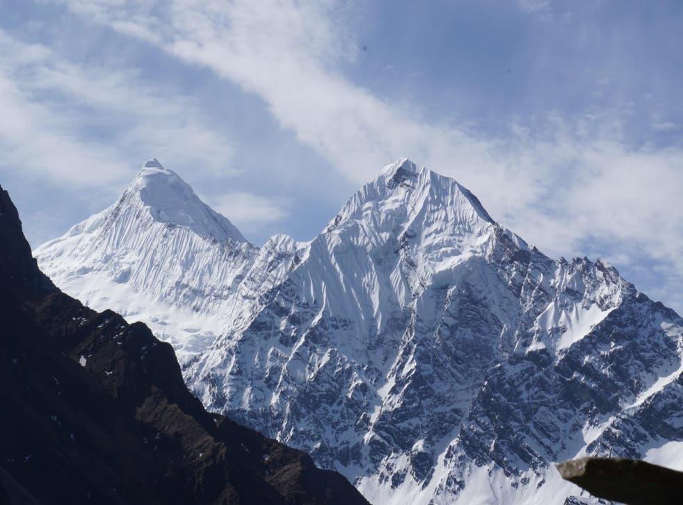 The Himalayas as seen from the Manaslu trek