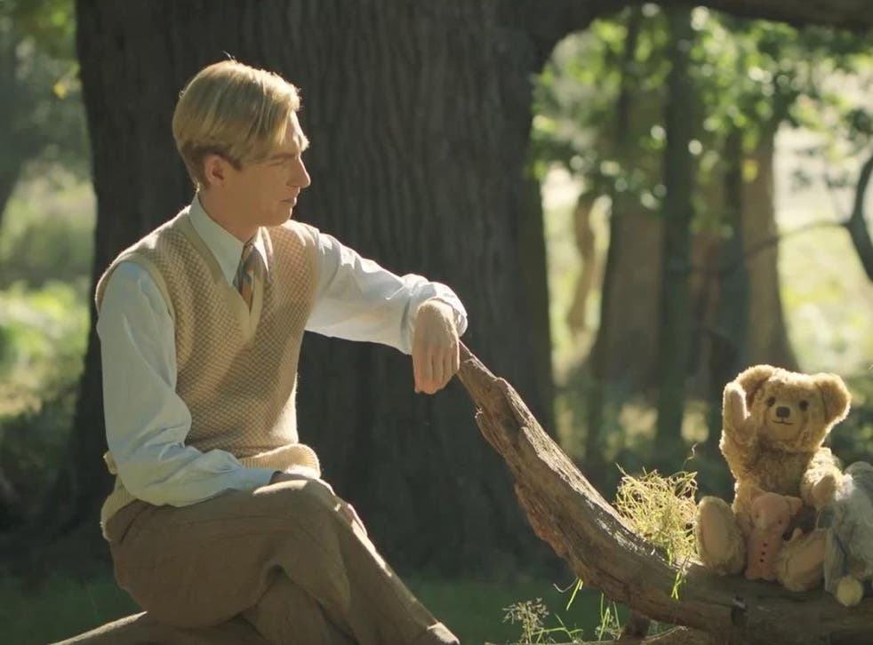Winnie formula: Domhnall Gleeson as the author in 'Goodbye Christopher Robin'