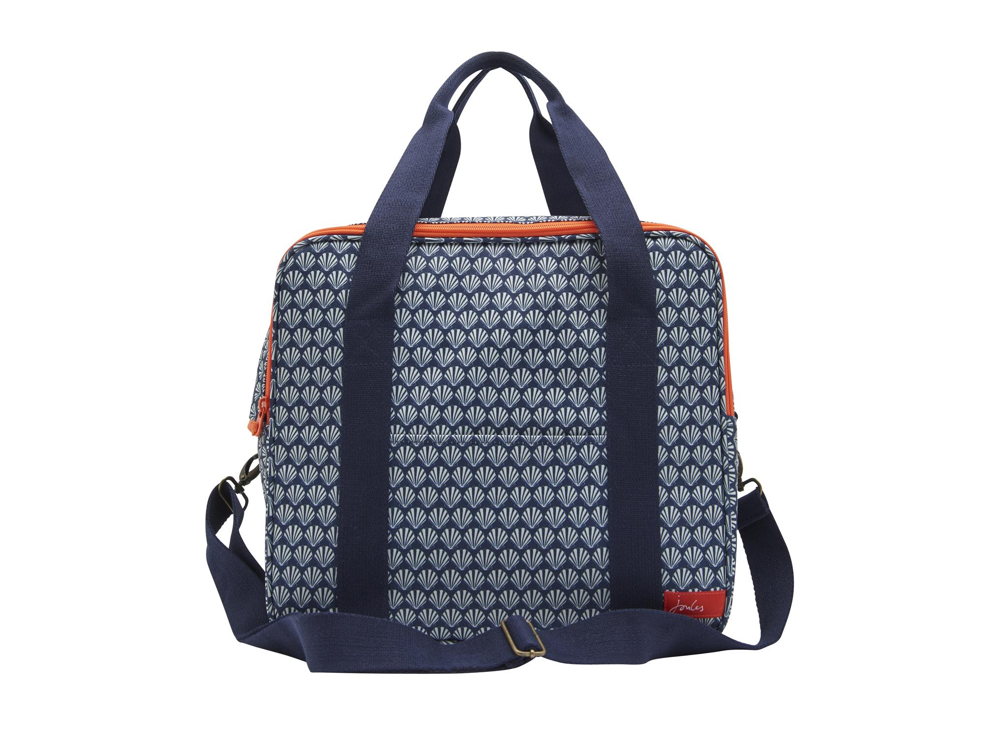 5946e65fd39d Available in two chic designs – grey floral or a navy shell – this  family-picnic sized bag is well-made