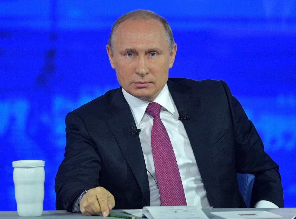 Vladimir Putin, the Russian President, used the annual question and answer session to talk to voters about key issues ahead of next year's presidential election