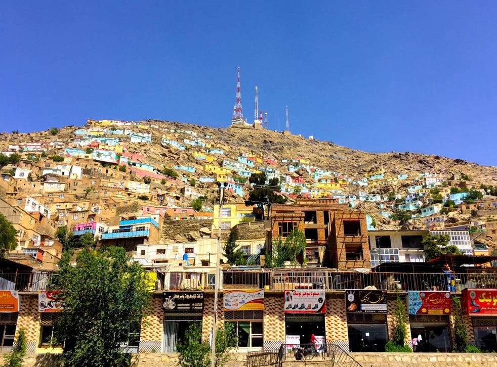 2000 houses in Kabul have been painted bright colours to improve mental health of the residents